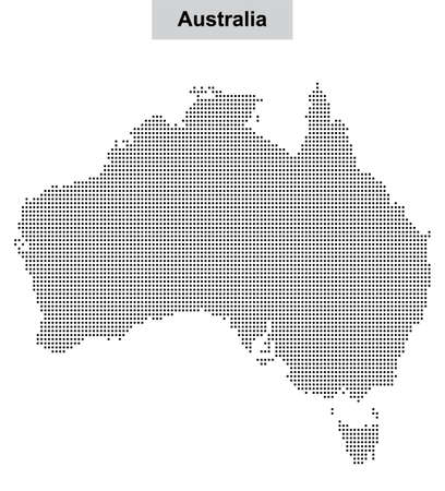 Australia dotted vector map