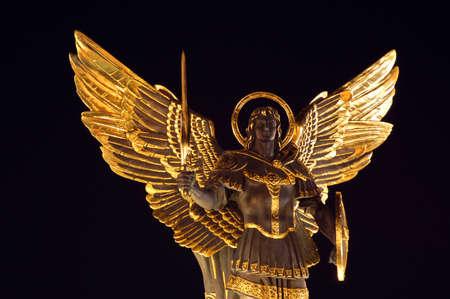 angel de la independencia: Arcángel Miguel, Maydan nezalejnosti, Kiev, Ucrania