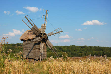 windy energy: Ancient windmill , Ukraine