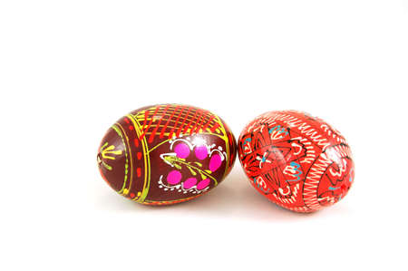 Easter eggs isolated on white photo