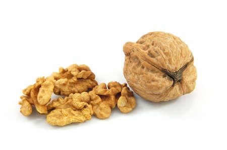 Walnuts on white background Stock Photo - 764948