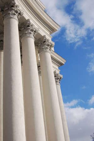 Old bright classical pillar