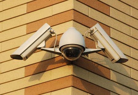 security video cameras Foto de archivo