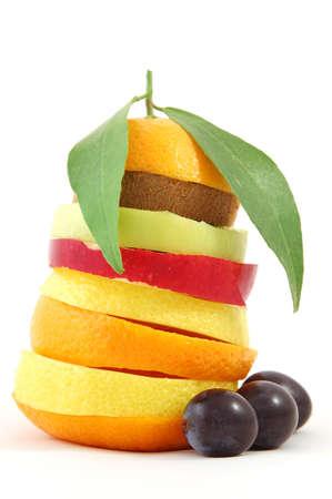 mixed fruits isolated on white background Stock Photo - 2262945