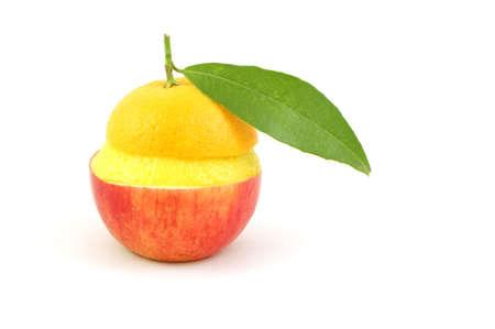 mixed fruits isolated on white background photo