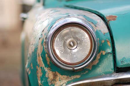 rusting: rusting car headlight