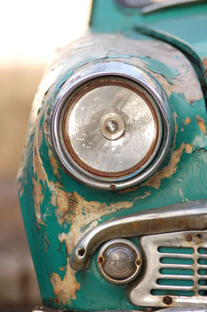 rusted: rusting car headlight