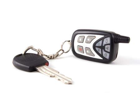 Key with wireless on white background