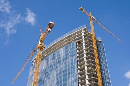 Construction  new business center in Kiev, Ukraine