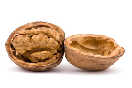 Walnuts isolated on a white background Stock Photo - 3838161
