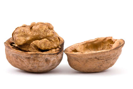 Walnuts isolated on a white background Stock Photo - 3876685