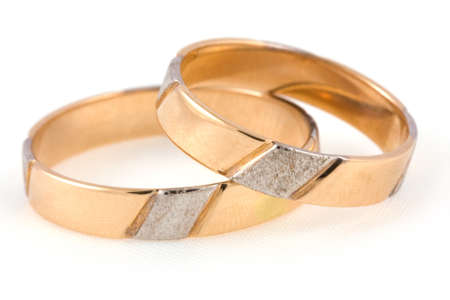 Two rings isolated on a white background