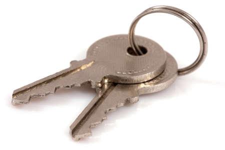Two keys isolated on white background photo