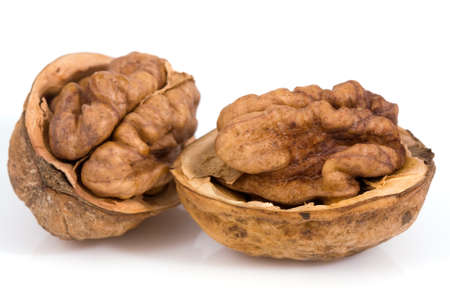 Walnuts isolated on a white background Stock Photo - 4364421