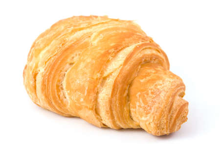Fresh croissant isolated on a white Stock Photo - 4543000