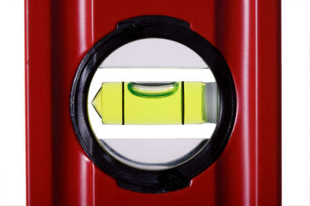 centering: Red bubble spirit level for construction