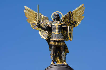 Archangel Michael in Kiev , Ukraine . Foto de archivo