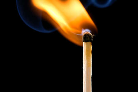 match flame and smoke photo
