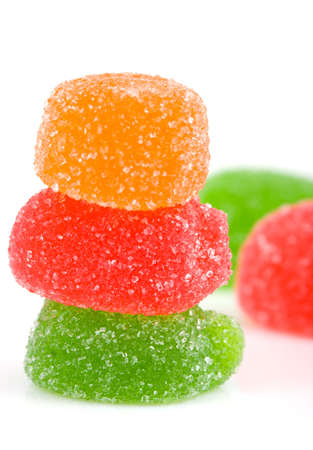 sugary: jelly candies isolated on a white