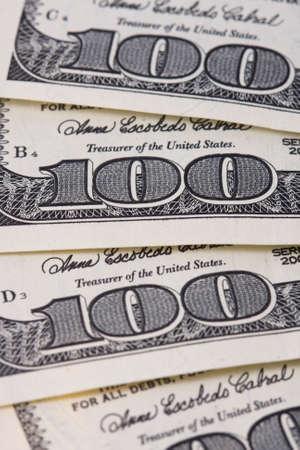 one hundred dollars: One hundred dollars  - background Stock Photo