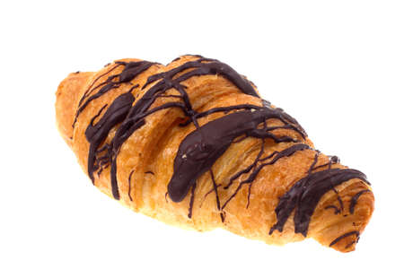 chocolate croissant isolated on a white Stock Photo - 7104319