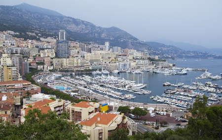 monte: View of Monaco harbour. Monte Carlo .