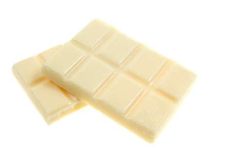 White chocolate isolated on white photo