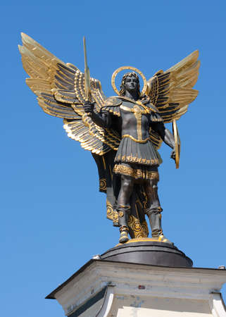 saint michael: Archangel Michael in Kiev Stock Photo