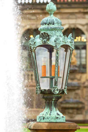 Lantern in Zwinger Palace . Dresden, Germany  photo