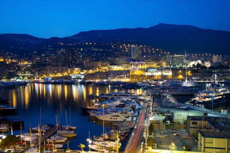 Monaco at night Stock Photo - 12383904