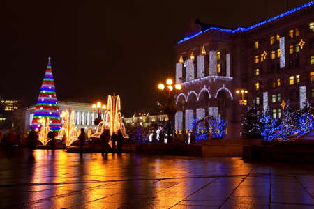 Independence square on Christmas  in Kiev , Ukraine
