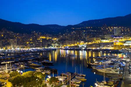 View of Monaco at night