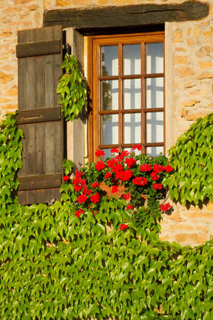 Beautiful window in Burgundy , France    photo