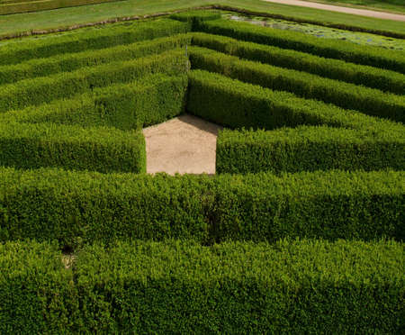 Green bushes Labyrinth in France