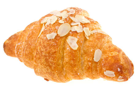 croissant isolated on  white  photo