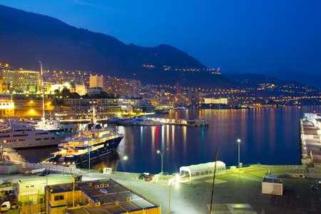 carlo: View of Monaco at night
