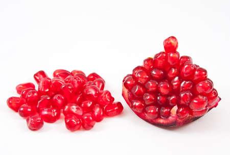 Ripe pomegranate isolated on white
