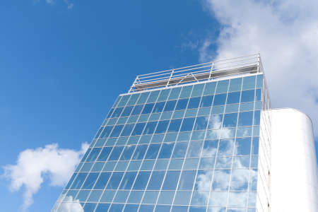 Office buildings on a  blue sky photo