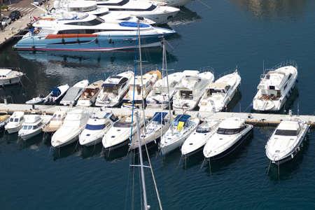 Luxury yachts in Monaco harbor photo