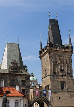 Charles Bridge and Judith Tower in Prague photo