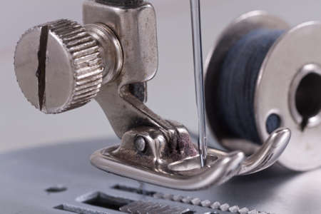 stitching machine: Old sewing machine - detail macro