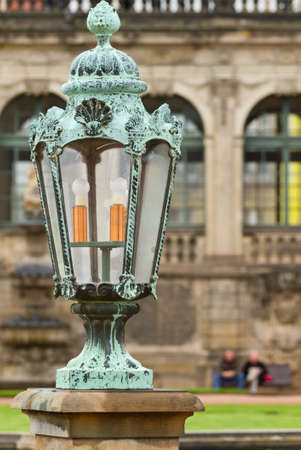 lantern on the  Dresden Art Gallery, Germany. photo