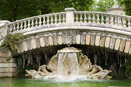 Fountain of Darcy park in Dijon ,France. photo