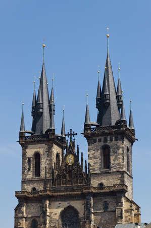 tyn: Church Tyn in Prague, Czech Republic Stock Photo