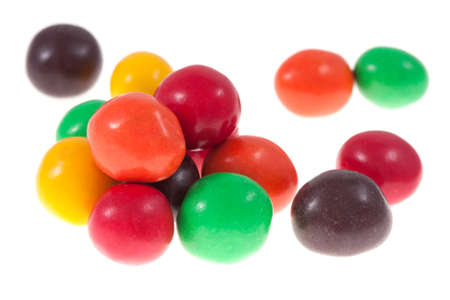 chocolate candy: Colorful chocolate candy isolated on white Stock Photo