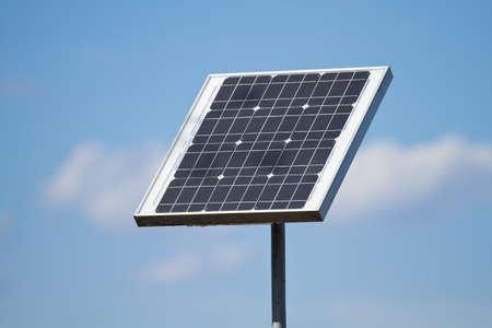 solarpanel: Solar panels on the blue sky Stock Photo