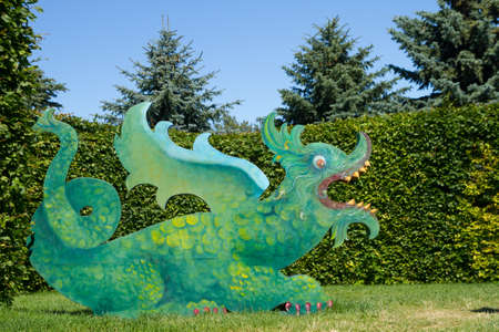 rundale: Chinese green dragon in the park