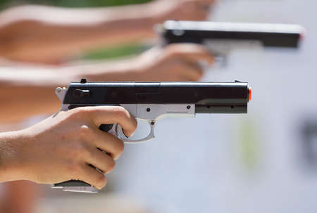 Competitions in shooting from a pneumatic pistol
