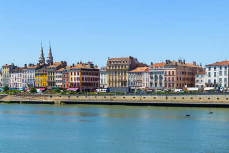 City of Macon with Saone river in Burgundy, France