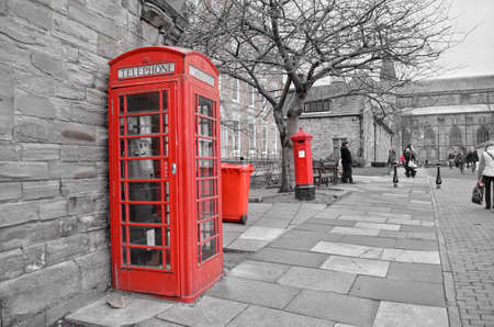British red telephone booth Editorial